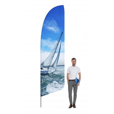 Flaga plażowa kształt A rozmiar L 390cm, różne rozmiary i podstawy