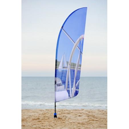 Flaga plażowa rozmiar M 300cm, kształt A, różne kształty i podstawy