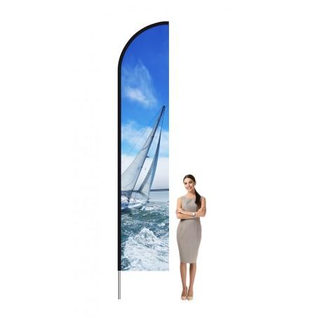 Aluminiowa Flaga plażowa L