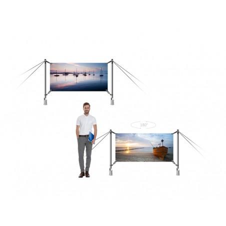 System wystawienniczy zewnętrzny dwustronny H-Fix 200x100cm