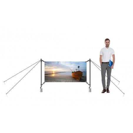 System wystawienniczy zewnętrzny H-Fix 200x100cm