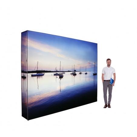 Ścianka reklamowa SEG z oświetleniem LED 297x224x36cm