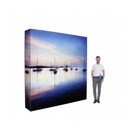 Ścianka reklamowa SEG z oświetleniem LED 224x224x36cm