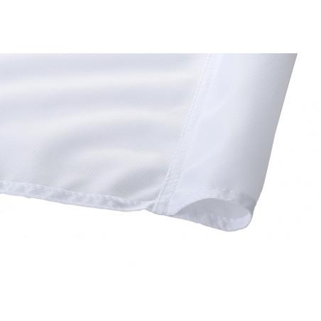 Baner reklamowy tekstylny ekologiczny Eco Polyglans 115 g/m² z certyfikatem niepalności, przezierny