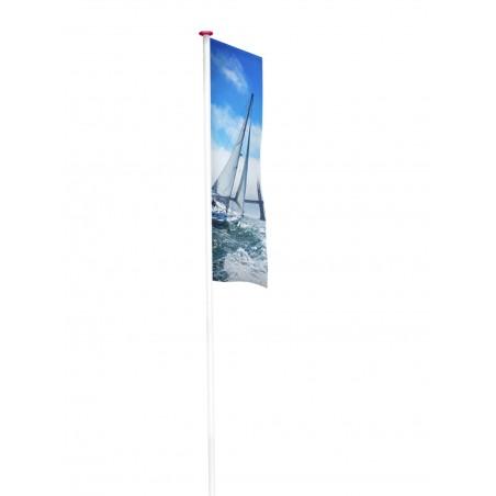Flaga reklamowa z tunelem perforowana na maszt Air Polyglans 115 g/m²