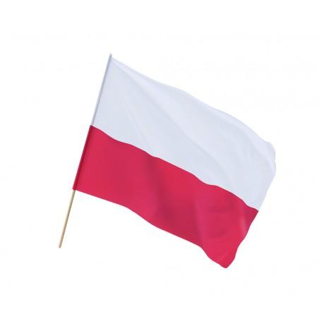 Flaga Polski z drzewcem