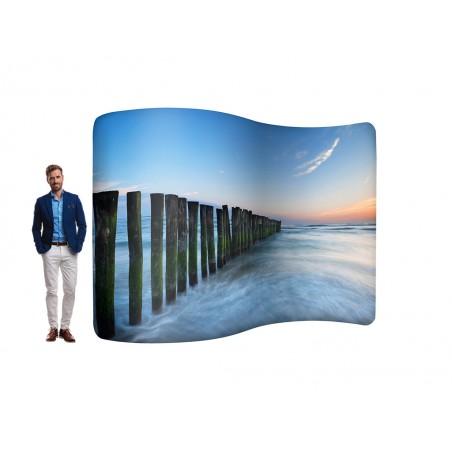 Ścianka Fala Zipper Wall 301x227cm zapinana na suwak z torbą
