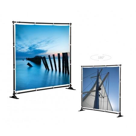 Ścianka reklamowa dwustronna Mobilna Flex Wall 210x210cm