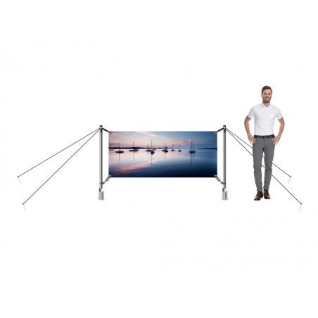 System wystawienniczy zewnętrzny H-Fix 300x100cm
