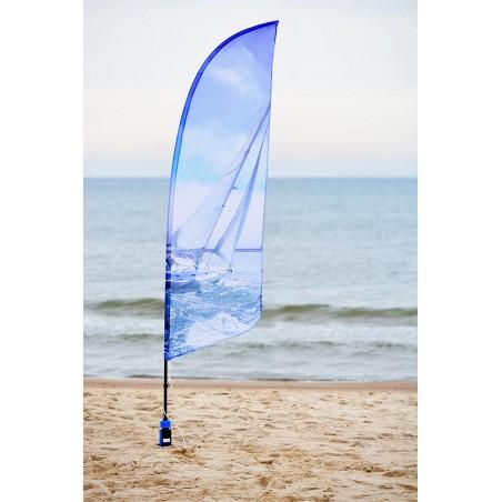 flaga plażowa kształt A rozmiar S wysokość 250cm do wyboru dowolna podstawa i materiał